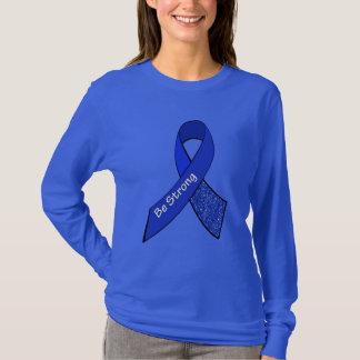 Starker ME/CFS Kriegers-blaues Bewusstseins-Band T-Shirt