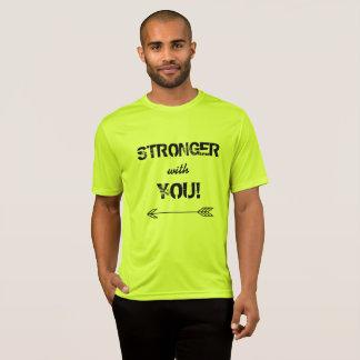 STÄRKER mit Ihnen Schatz-T-Shirt Neon-Gelb T-Shirt