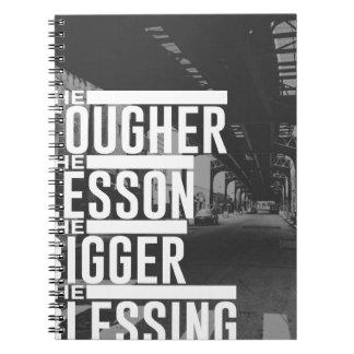 Stärkere Lektions-größerer Segen Notizblock