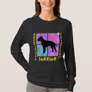 Starkes amerikanisches Staffordshire Terrier T-Shirt