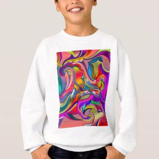 Starkes Digital-Muster Sweatshirt
