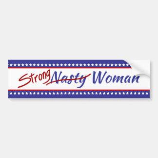 Starkes ekliges Frauen-US Flagge Autoaufkleber