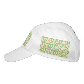 Starkes gelbes Paisley auf Frühlings-Grün Headsweats Kappe