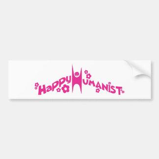 Starkes glückliches Humanist-Rosa Auto Sticker