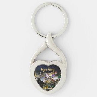 Starkes Herz-geformtes Memento Vegas Schlüsselanhänger