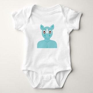Starkes Nashorn Baby Strampler