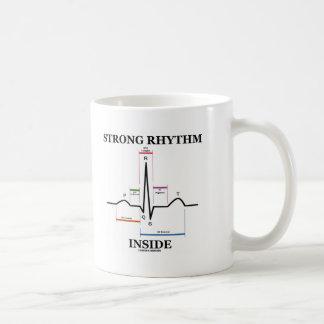 Starkes Rhythmus-Innere (ECG/EKG Herzschlag) Kaffeetasse
