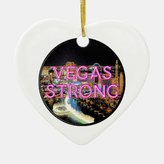 Starkes Rosa Vegas Keramik Ornament