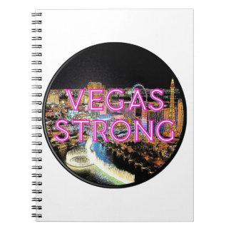 Starkes Rosa Vegas Notizblock