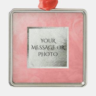 Starkes seifiges Rosa des Wasser-1256 Silbernes Ornament