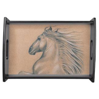 Starkes spanisches Pferd Tablett