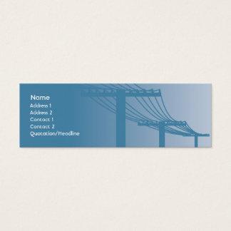Starkstromleitungen - dünn mini visitenkarte