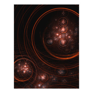 Starlight-abstrakter Kunst-Flyer 21,6 X 27,9 Cm Flyer