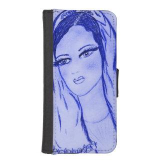 Starlight Mary - Blau - Geldbeutel Hülle Für Das iPhone SE/5/5s