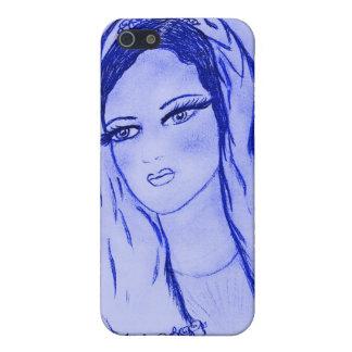 Starlight Mary - Blau - trocknen Sie Bürste iPhone 5 Case