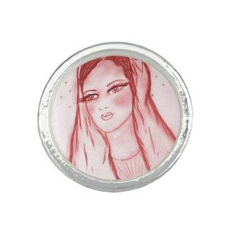 Starlight Mary im Rot Foto Ringe
