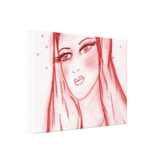 Starlight Mary im Rot Leinwanddruck