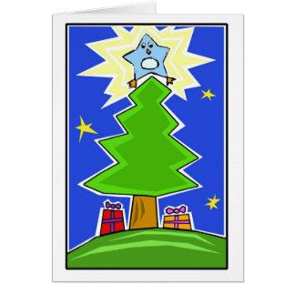 Starr die der Baum-Pinguin-Grußkarte Jahreszeit Karte