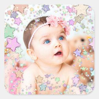 Starry Baby-Foto-Aufkleber Quadratischer Aufkleber