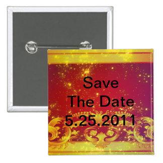 Starry Kunst-Deko-Set Quadratischer Button 5,1 Cm