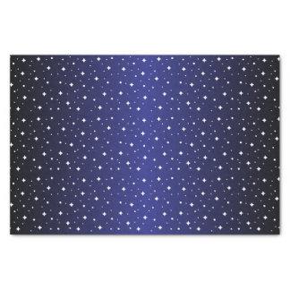 Starry Nacht im glänzenden dunklen lila Blau Seidenpapier