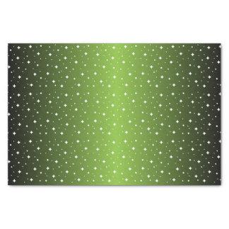 Starry Nacht im glänzenden Limonen Grün Seidenpapier