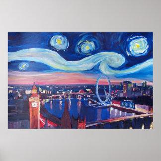 Starry Nacht London - Van Gogh inspiriert Poster