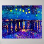 Starry Nacht über der Rhône-Pop-Kunst Posterdruck