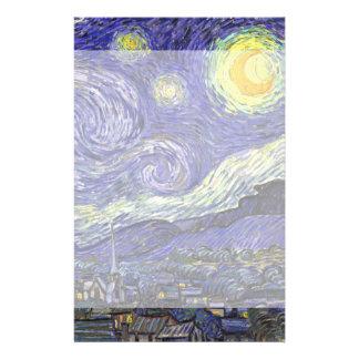 Starry Nacht Van Gogh, Vintager Post-Impressionism Bedrucktes Büropapier