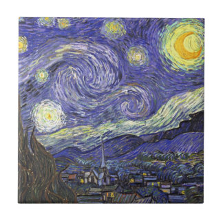 Starry Nacht Van Gogh, Vintager Post-Impressionism Kacheln