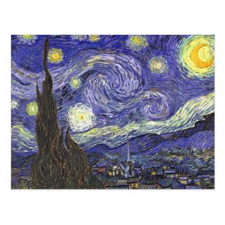 Starry Nacht Van Gogh, Vintager Postkarten