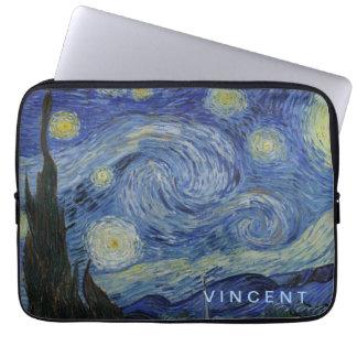 Starry Nacht Vincent van Gogh personalisiert Laptop Sleeve