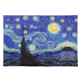 Starry Nachtinspirierte Van- Tischset