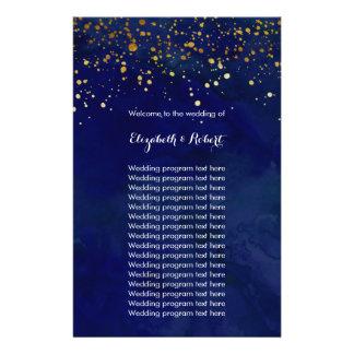 Starry Nachtmarine-und Imitat-GoldGlitter 14 X 21,6 Cm Flyer