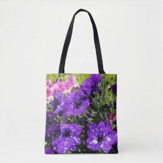 Starry Nachtpetunie-Blumen-Taschentasche Tasche