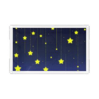 Starry NachtServiertablett Acryl Tablett