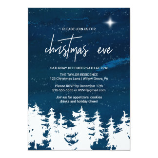 Starry Nachtweihnachtsabends-Party Karte