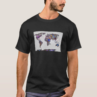 Stars world map T-Shirt