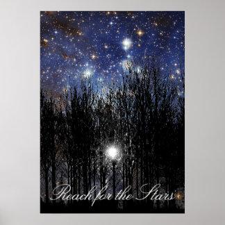 Starscape u. Bäume: Reichweite - Plakat
