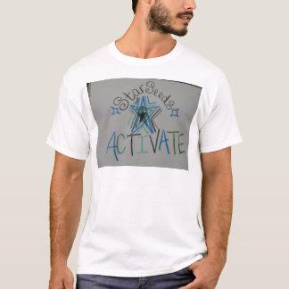 Starseeds aktivieren helles Sprachsymbol T-Shirt