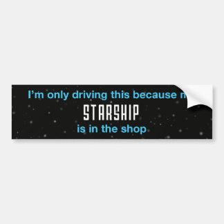 Starship Autoaufkleber