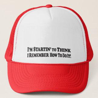 Startin, zum - des Fernlastfahrer-Hutes zu denken Truckerkappe