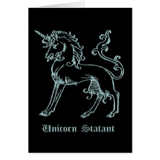 Statant mittelalterliche Wappenkunde des Einhorns Karte