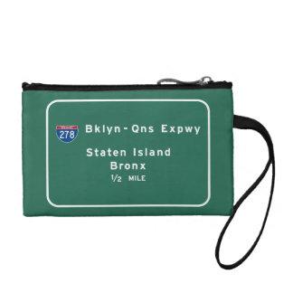 Staten Island Bronx zwischenstaatliches NYC New Münzbeutel
