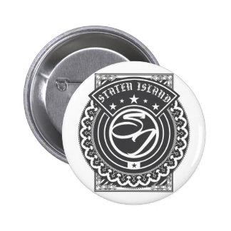 Staten Island-Logo Runder Button 5,7 Cm