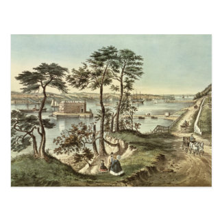 Staten Island und die Engen vom Fort Hamilton Postkarte