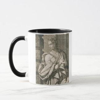 Statilia Messalina dritte Ehefrau von Nero (Stich) Tasse