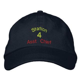 Station, 4, Asst. Leiter-Gestickter Hut Bestickte Baseballkappen