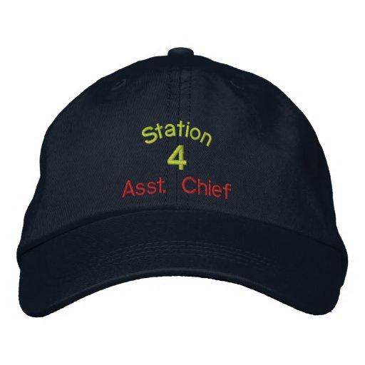 Station, 4, Asst. Leiter-Gestickter Hut Bestickte Baseballkappe