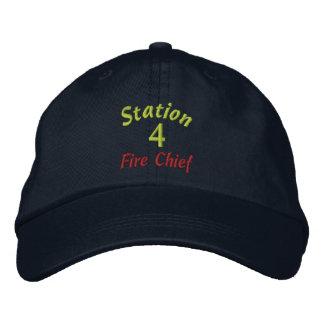 Station 4 Feuer Leiter-Stickte Hut Bestickte Kappen